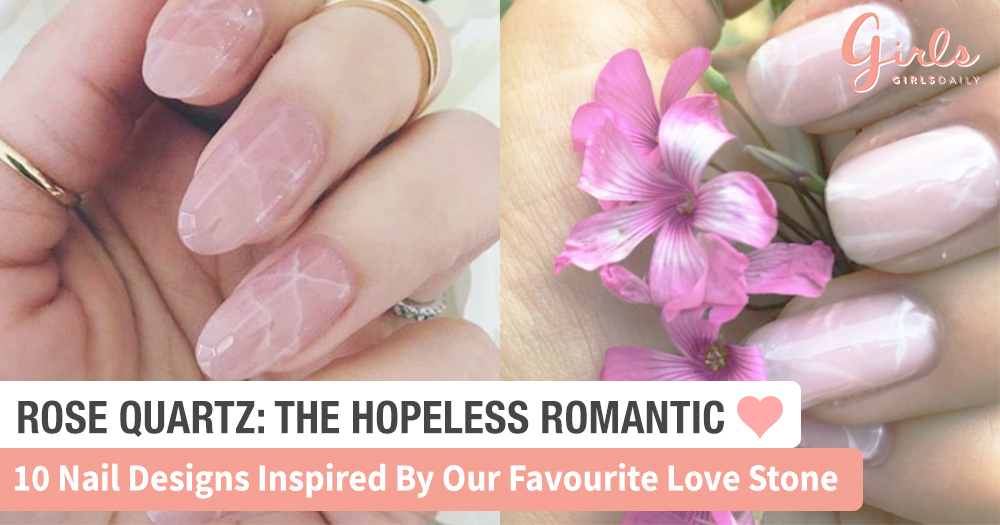 These 10 Rose Quartz Nail Designs Are Pretty AND Meaningful. Find Out Why!