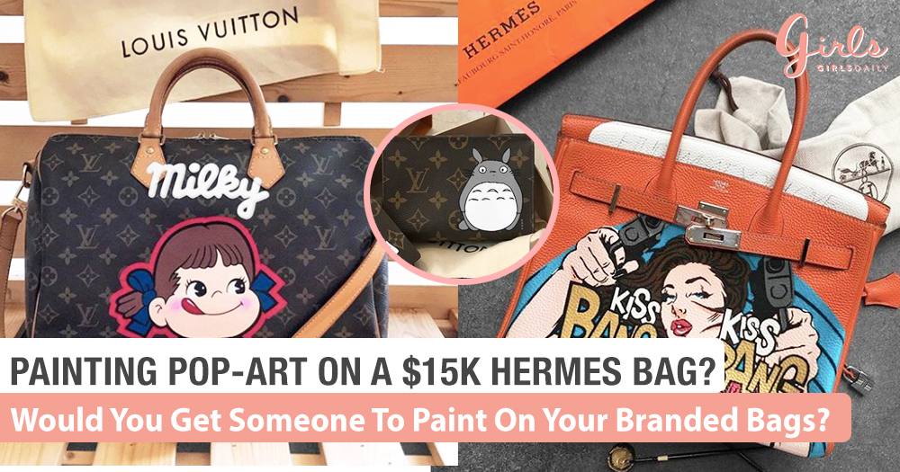 Fancy Painting Pop Art On Your Branded Hermes Or LV Bags!