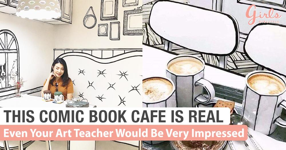 Cute Cafe In Korea That Looks Just Like Cartoon Drawings!