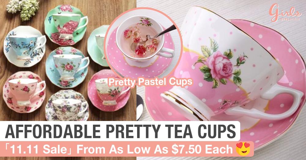 These Tea Cups Are So Pretty, The Price Tag Is Even Prettier <3
