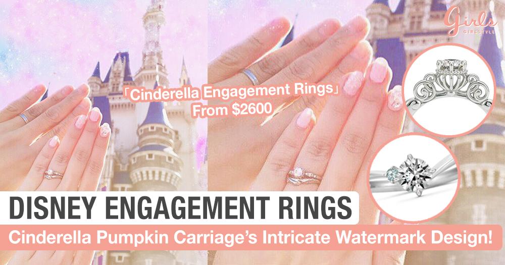Cinderella Disney Engagement Rings Symbolise A Change Of Destiny! Each Design Has 5 Variations, So Pretty!