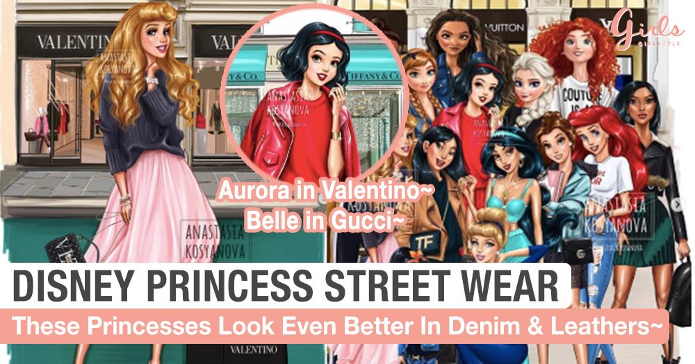 Disney Princesses in Gucci, Prada, Valentino & More?!