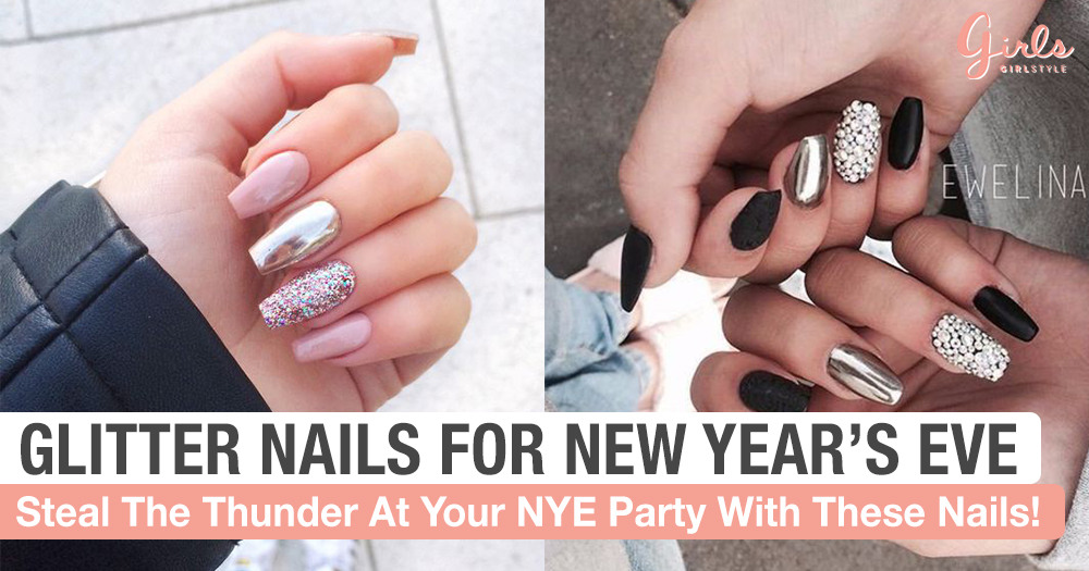 Shine Bright On New Year's Eve With These Gorgeous Nail Designs