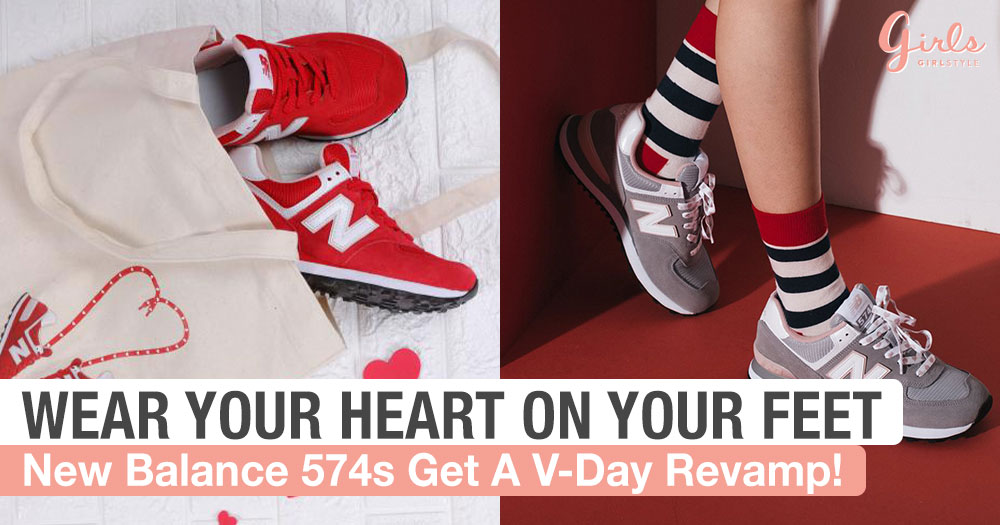 New Balance Covers The 574s In Hearts For Valentine's Day