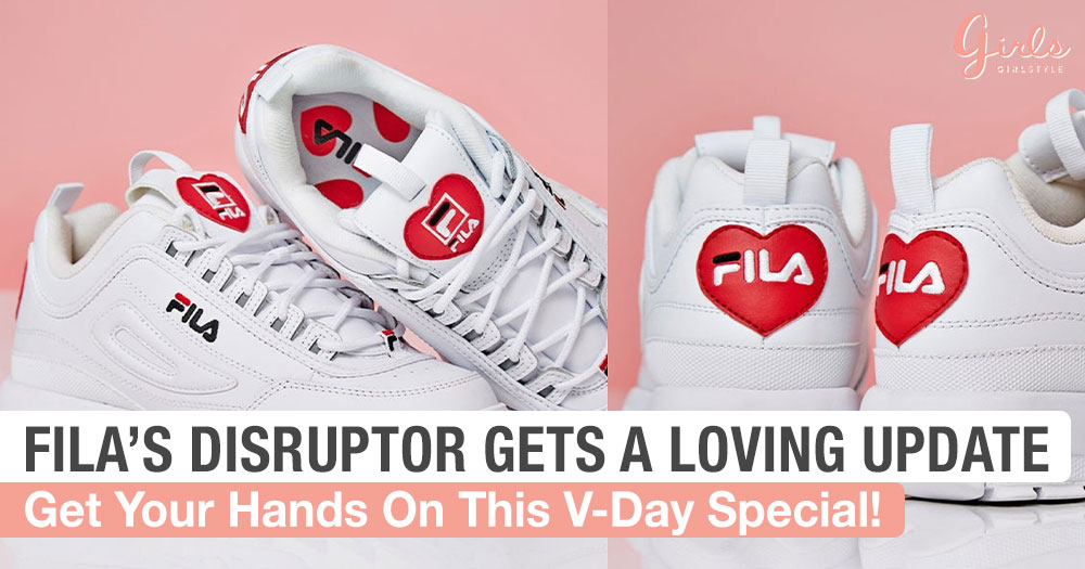 FILA's Disruptors Got A Loving Makeover And It's The Only Sweetheart You Need This Valentine's Day