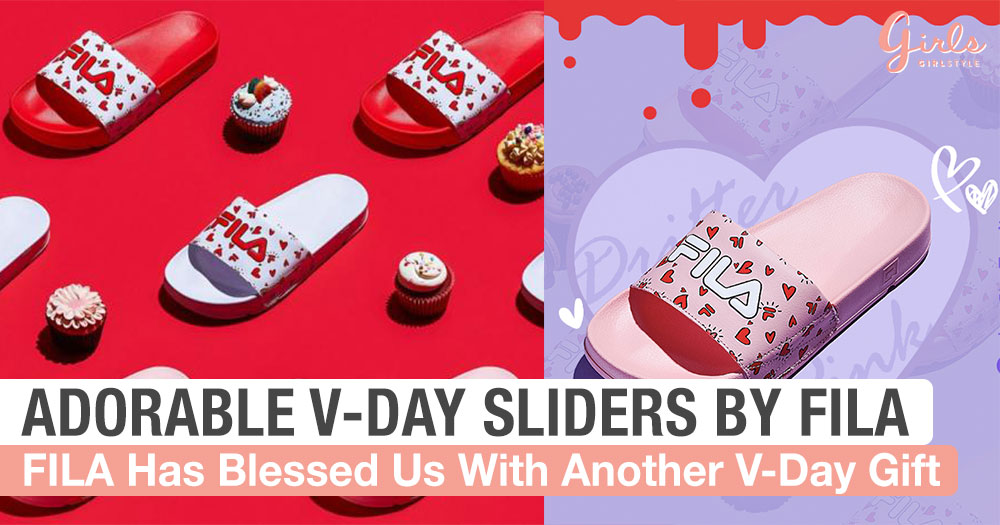 FILA Just Dropped The Cutest Sliders For Valentine's Day