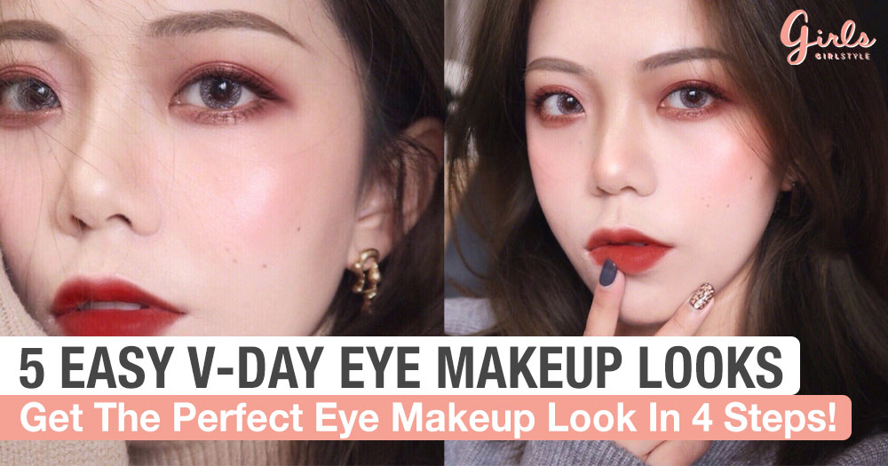Look Pretty This V-Day With These 5  Eye Makeup Looks That Can Be Achieved In Just 4 Steps!