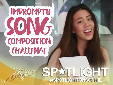Spotlight on Sophie: Impromptu Song Composition Challenge