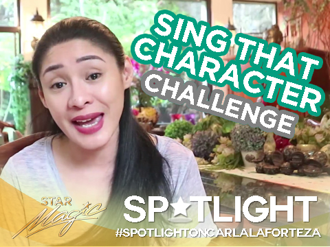 Spotlight on Carla Laforteza: Sing That Character Challenge