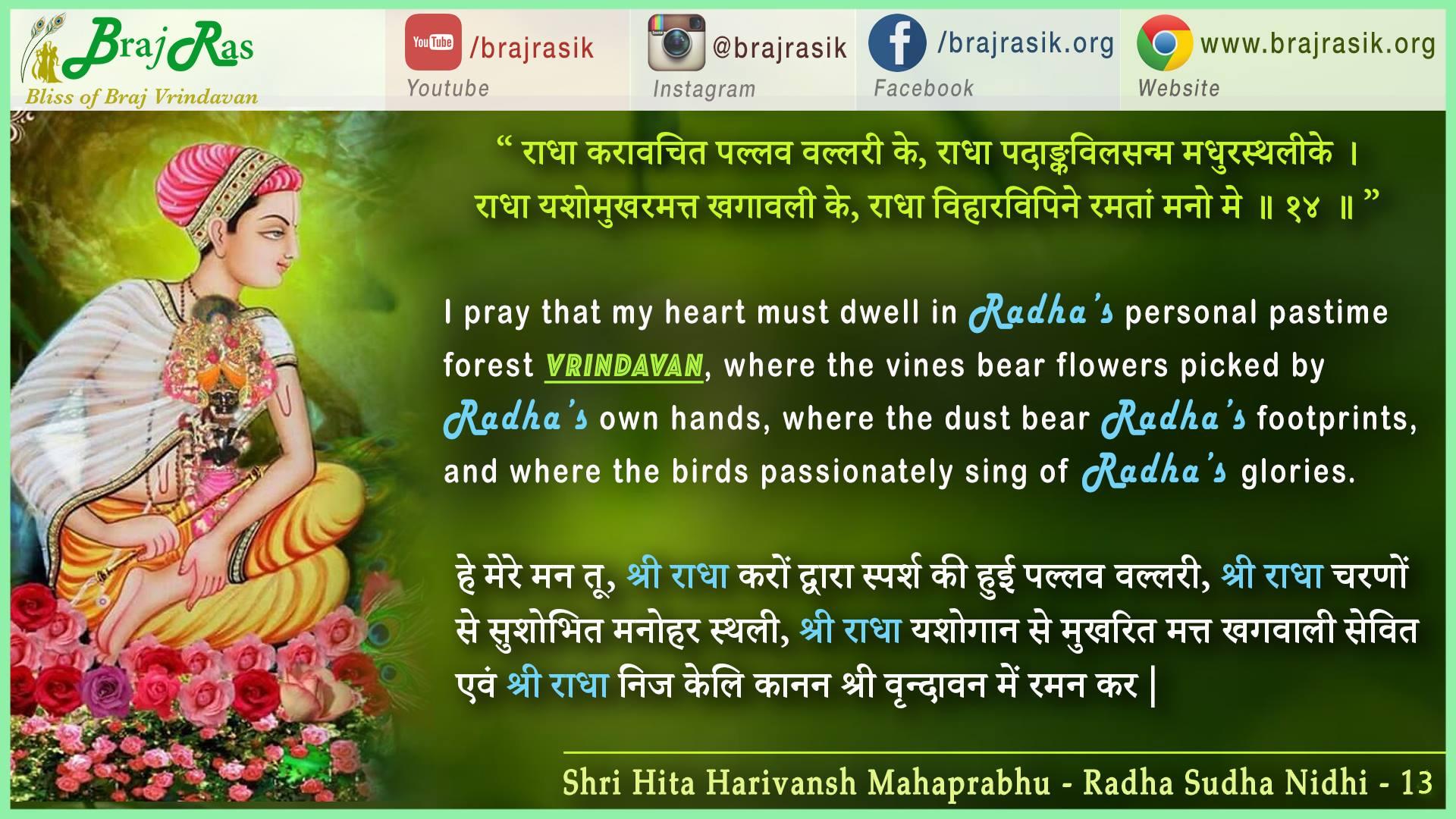 radha-karavacita-pallava-vallarike - Shri Hita Harivansh Mahaprabhu - Radha Sudha Nidhi (14)