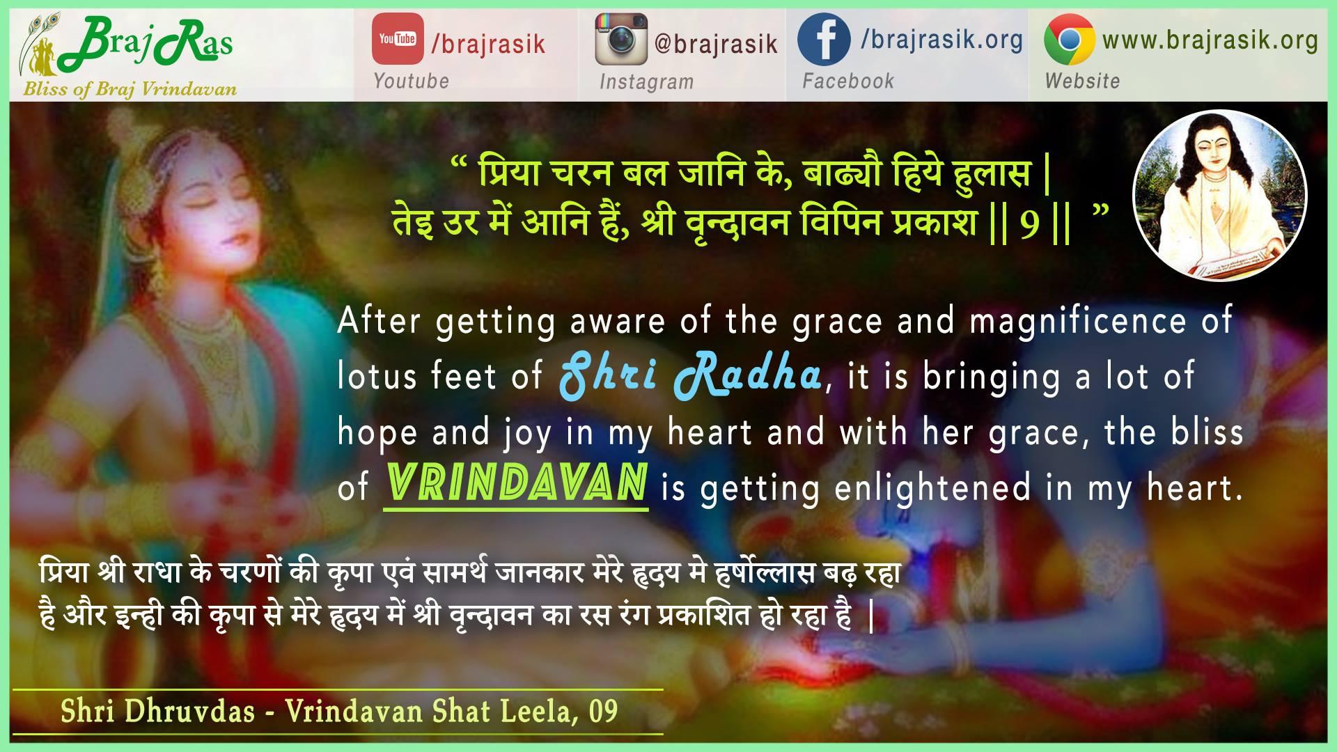 Priya Charan Bal Jani Ke - Shri Dhruvdas - Vrindavan Shat Leela (09)