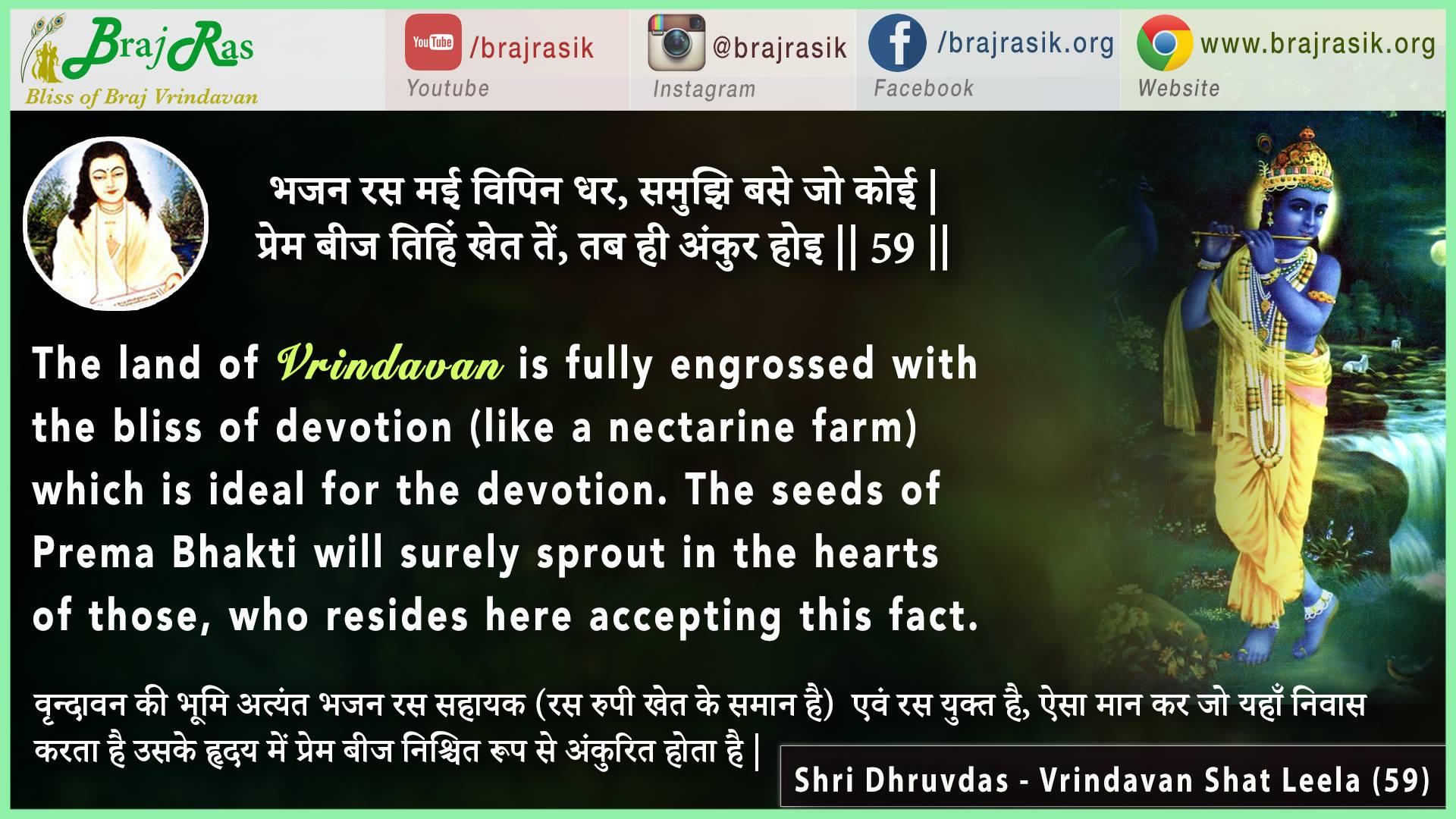 Bhajan Ras Mai Vipin Dhar - Shri Dhruvdas - Vrindavan Shat Leela (59)