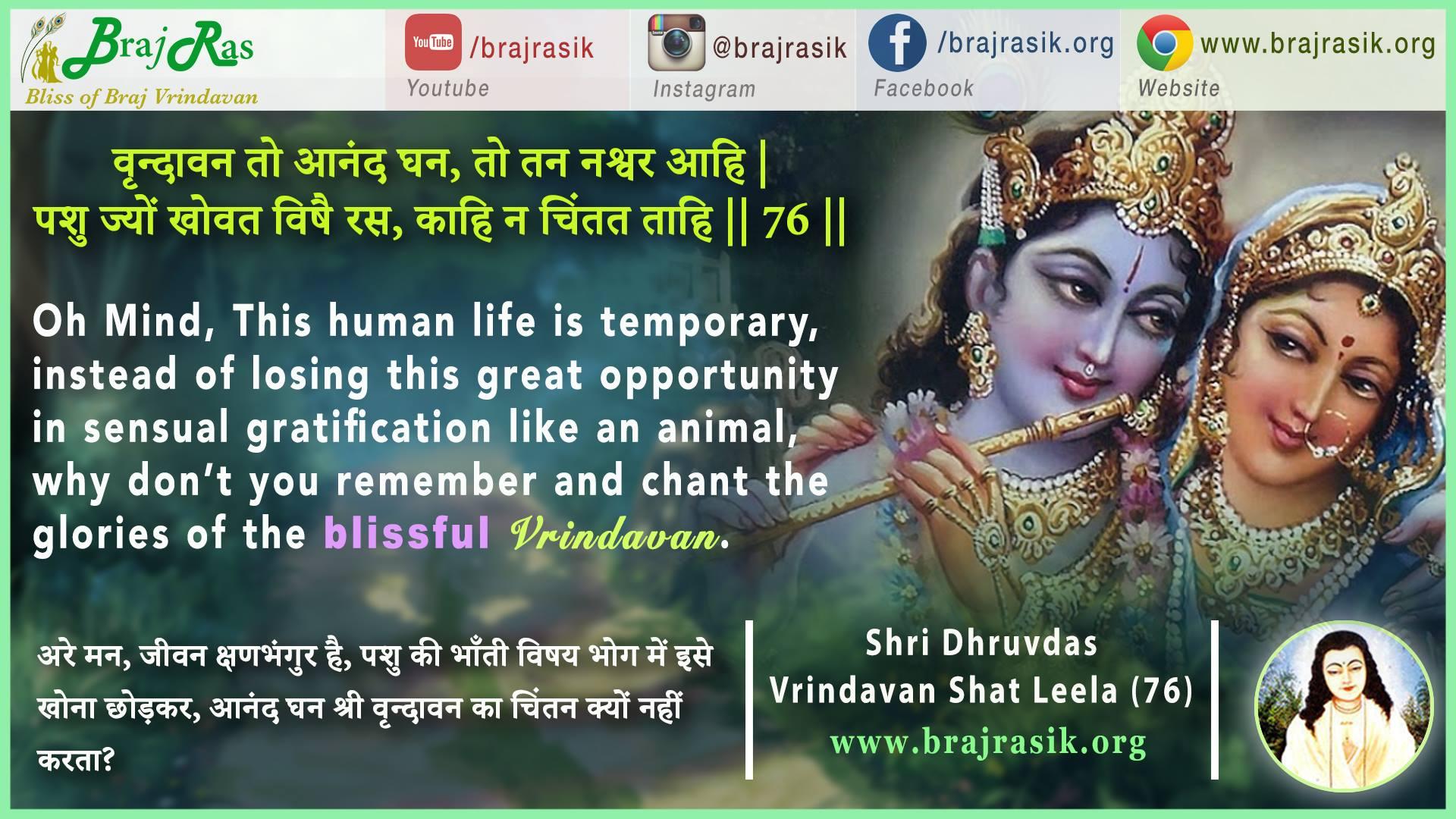 Vrindavan To Anand Ghan - Shri Dhruvdas, Vrindavan Shat Leela