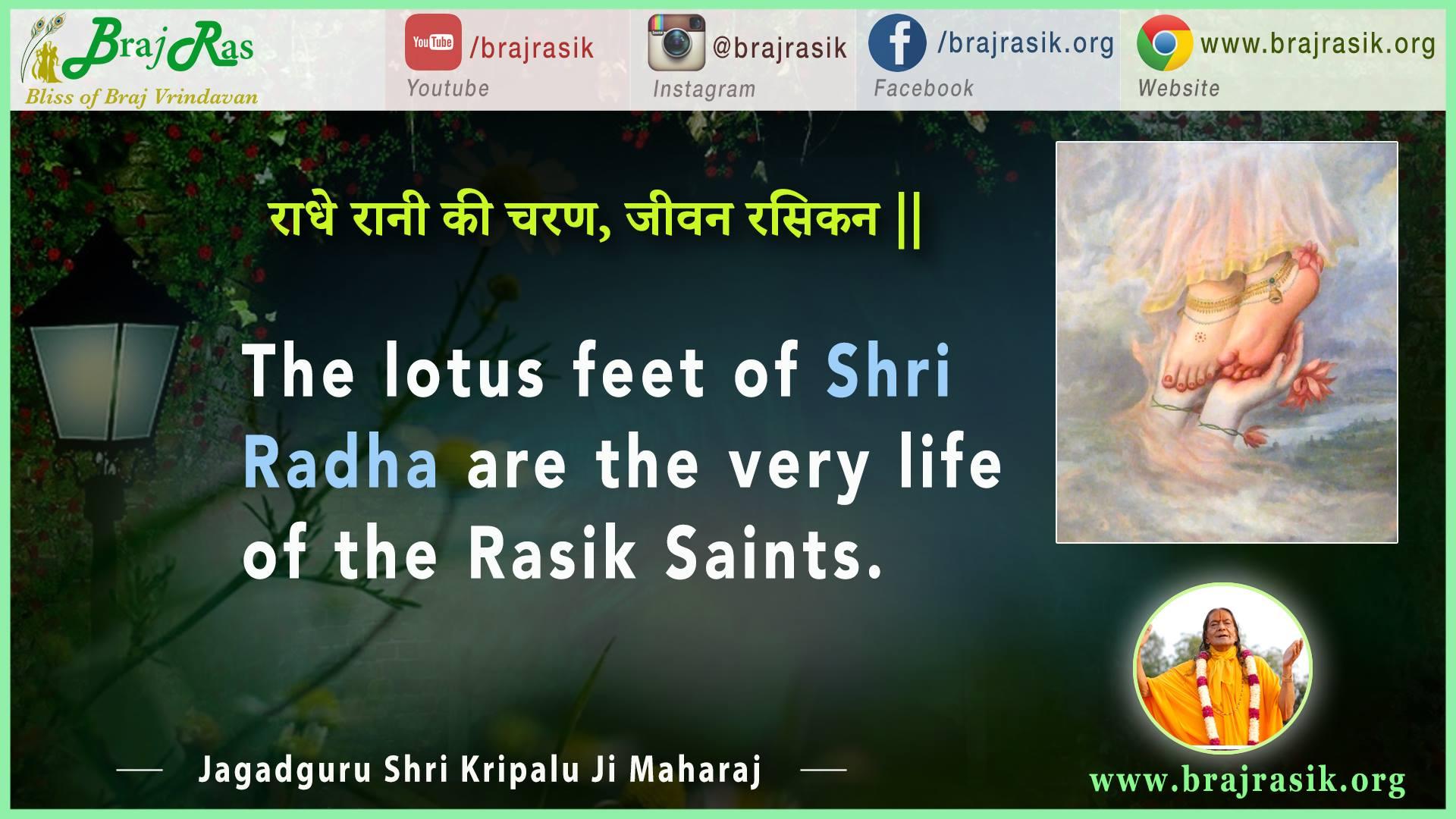 Radhey Rani Ke Charan, Jeevan Rasikan - Jagadguru Shri Kripalu Ji Maharaj