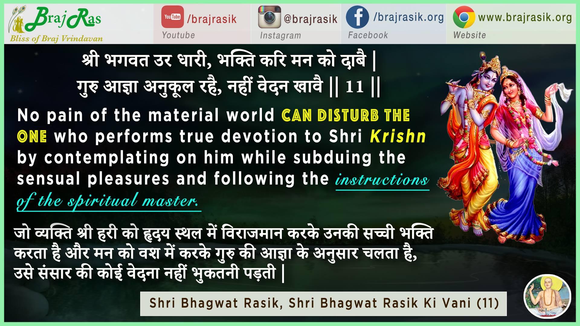 Shri Bhagwat Ura Dhari, Bhakti Kari Mana Ko Daabe - Shri Bhagwat Rasik, Bhagwat Rasik Ki Vani (11)