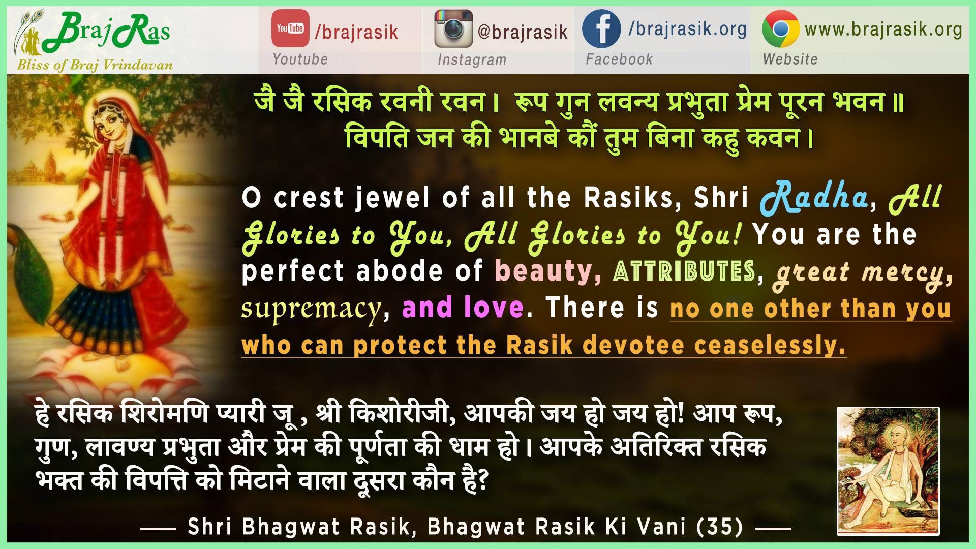 Jai Jai Rasik Ravani Ravan - Shri Bhagwat Rasik, Bhagwat Rasik Ki Vani (35)