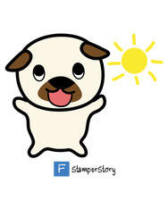 Doono Pug by Stamperstory