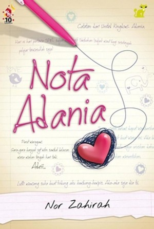 Nota Adania by Zaira Fitrah from PTS Publications in Teen Novel category