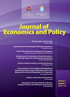 Journal of Economics and Policy Vol 1, No. 1-2014 by Institut Tadbiran Awam Negara (INTAN) from  in  category