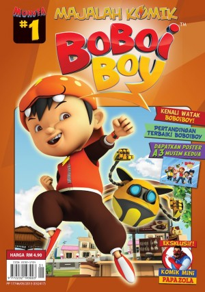 Majalah Komik BoBoiBoy Isu #1