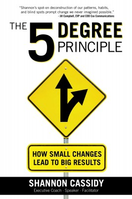 The 5 Degree Principle - How Small Changes Lead to Big Results by Shannon Cassidy from Bookbaby in Lifestyle category