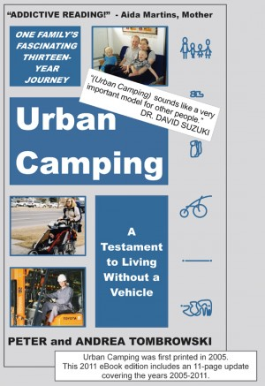 Urban Camping A Testament to Living Without a Vehicle by Peter Tombrowski from Bookbaby in Autobiography & Biography category