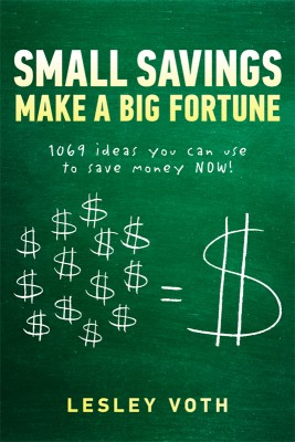 Small Savings Make a Big Fortune 1069 ideas you can use to save money NOW! by Lesley Voth from Bookbaby in Finance & Investments category