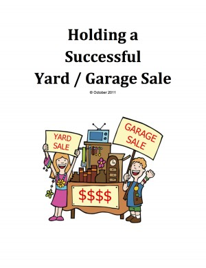 How To Hold A Successful Yard/Garage Sale  by Grayson Schwepfinger from Bookbaby in Lifestyle category
