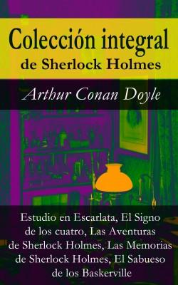 Colección integral de Sherlock Holmes (Estudio en Escarlata, El Signo de los cuatro, Las Aventuras de Sherlock Holmes, Las Memorias de Sherlock Holmes, El Sabueso de los Baskerville) by Arthur Conan Doyle from Vearsa in General Novel category