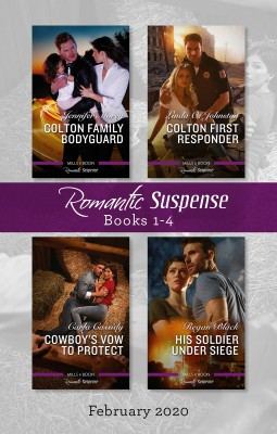 Romantic Suspense Box Set 1-4/Colton Family Bodyguard/Colton First Responder/Cowboy's Vow to Protect/His Soldier Under Siege by Carla Cassidy from HarperCollins Publishers Australia Pty Ltd in Romance category