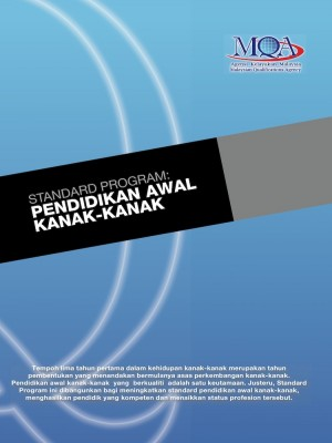Standard Program: Pendidikan Awal Kanak-kanak by Agensi Kelayakan Malaysia (Malaysian Qualifications Agency, MQA) from MALAYSIAN QUALIFICATIONS AGENCY in General Academics category