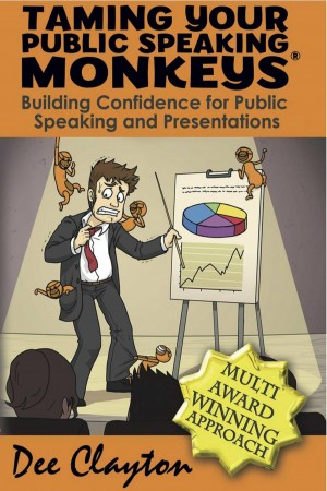 Taming Your Public Speaking Monkeys  by Dee Clayton from m-y books ltd in Lifestyle category