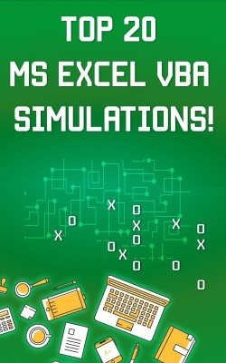 Top 20 MS Excel VBA Simulations, VBA to Model Risk, Investments, Growth, Gambling, and Monte Carlo Analysis by Andrei Besedin from PublishDrive Inc in Engineering & IT category