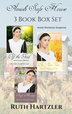 Amish Safe House: Three Book Box Set by Ruth Hartzler from PublishDrive Inc in General Novel category