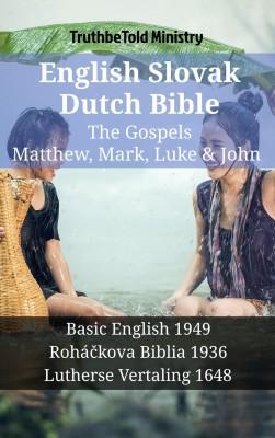 English Slovak Dutch Bible - The Gospels - Matthew, Mark, Luke & John