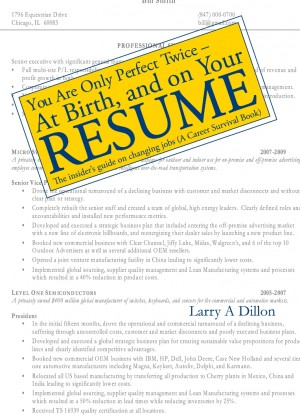 You're Only Perfect Twice: At Birth and on Your Resume~At Birth and on Your Resume by Larry Dillon from Strategic Book Publishing & Rights Agency in General Novel category
