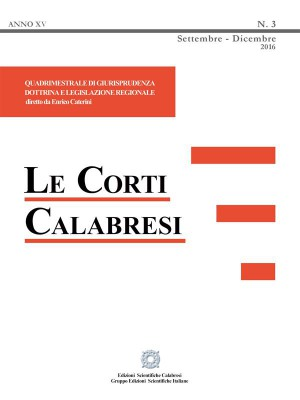 Le Corti Calabresi - Fascicolo 3 - 2016 by Enrico Caterini from StreetLib SRL in Law category