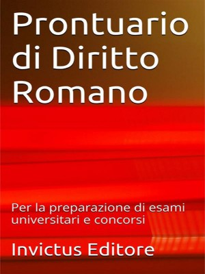 Prontuario di diritto romano by AA. VV. from StreetLib SRL in Law category