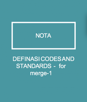 DEFINASI CODES AND STANDARDS - for merge-1 by WIM from  in  category