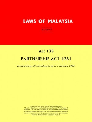 Act 135 : PARTNERSHIP ACT 1961 by Xentral Methods from Xentral methods Sdn bhd in Law category