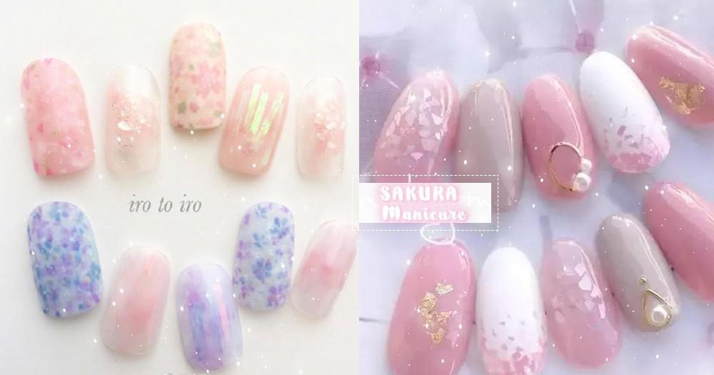 指尖也要跟上櫻花季的節奏,春暖花開13款小清新櫻花美甲,有點太甜!
