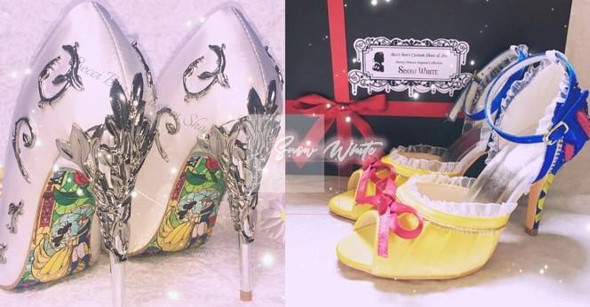 迪士尼公主婚鞋再一波~白雪公主、貝兒的超精緻高跟鞋話題蔓延推特~