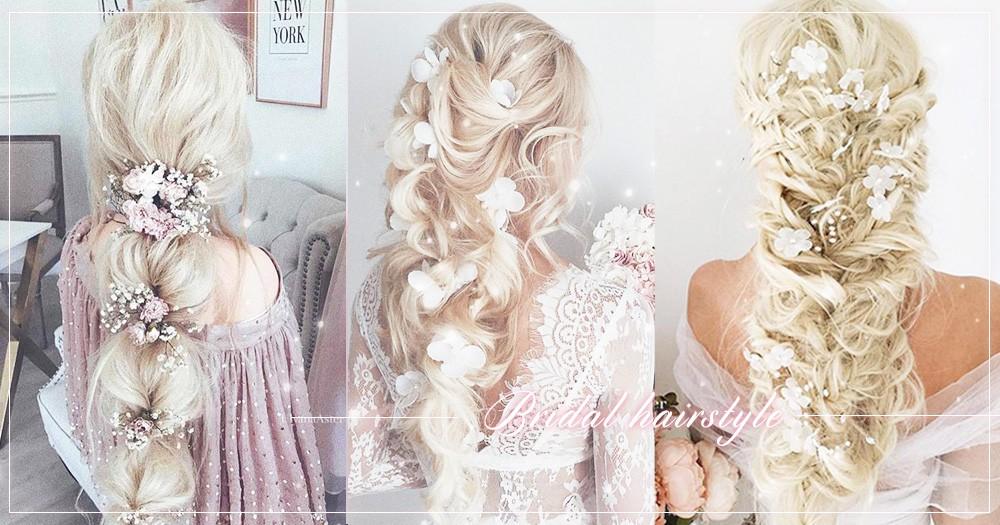 將滿天星、乾燥玫瑰也繫上髮絲吧!最美森系新娘髮型~仙氣滿滿18款當你當溫柔新娘~