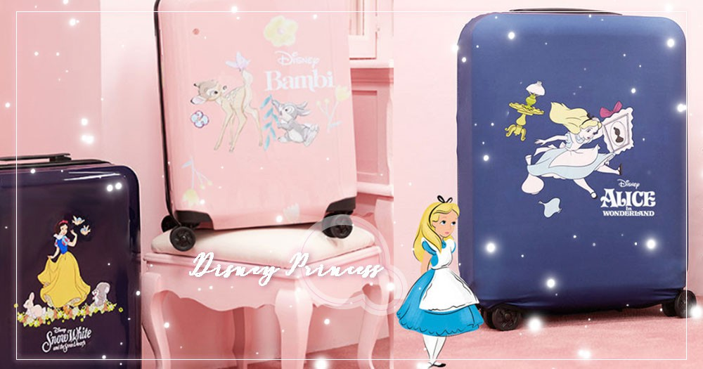韓國最新迪士尼行李箱火登SNS話題~白雪公主、愛麗絲、小鹿斑比陪妳去旅行♡