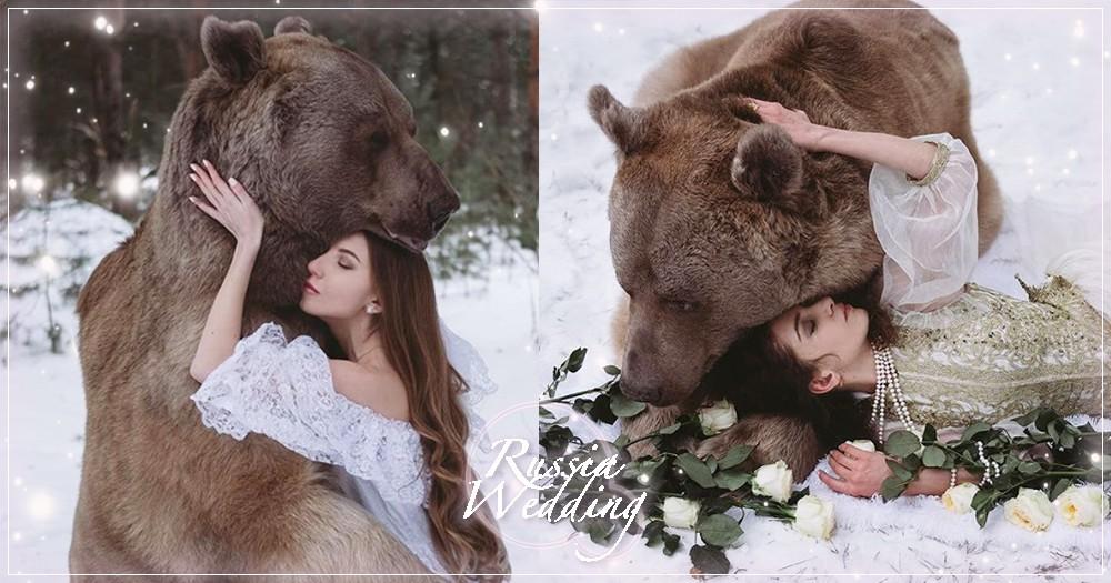 俄羅斯攝影師「反狩獵」童話婚紗照推特熱議~擁抱真實小熊維尼帶妳找回最初童心♡