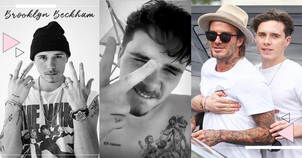 解密布魯克林9大刺青都在宣示「愛家人」,胸前刺下「mama's boy」爽快承認哥94媽寶,最新天使tattoo更向貝克漢致敬~