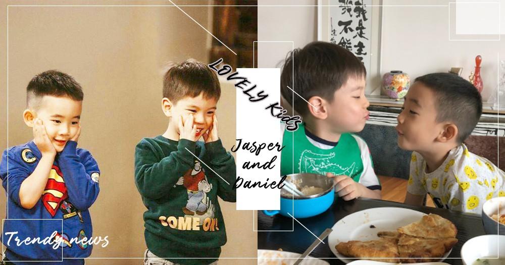 2隻小可愛終於團聚啦!嗯哼xJasper同框吃飯~嘟嘴還獻吻!網友:「這對CP我讚了!」