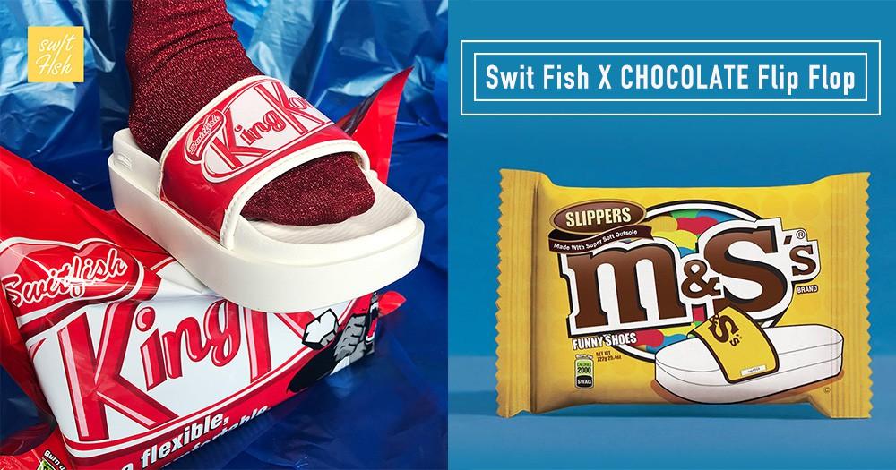 根本神還原!超幽默巧克力拖鞋想要什麼口味自己挑!小心螞蟻爬到你腳上~