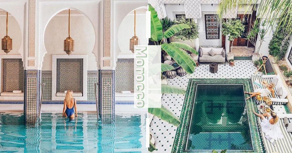 美到像仙境!摩洛哥迷幻異域風情旅店~華麗靜謐絕對療癒你的身心靈