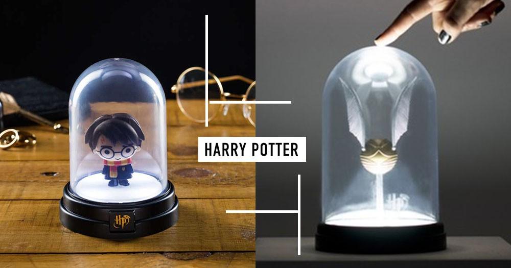 路默思!哈利波特、金探子玻璃盅罩小夜燈~銀白魔法亮光照亮你的夜晚不孤單